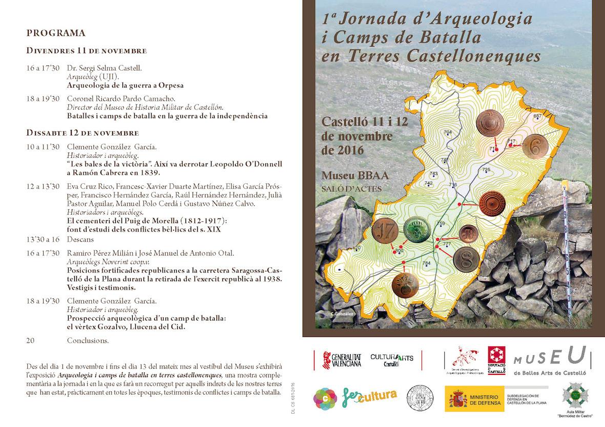 Jornadas de Arqueología y Campos de Batalla en Tierras Castellonenses Programación