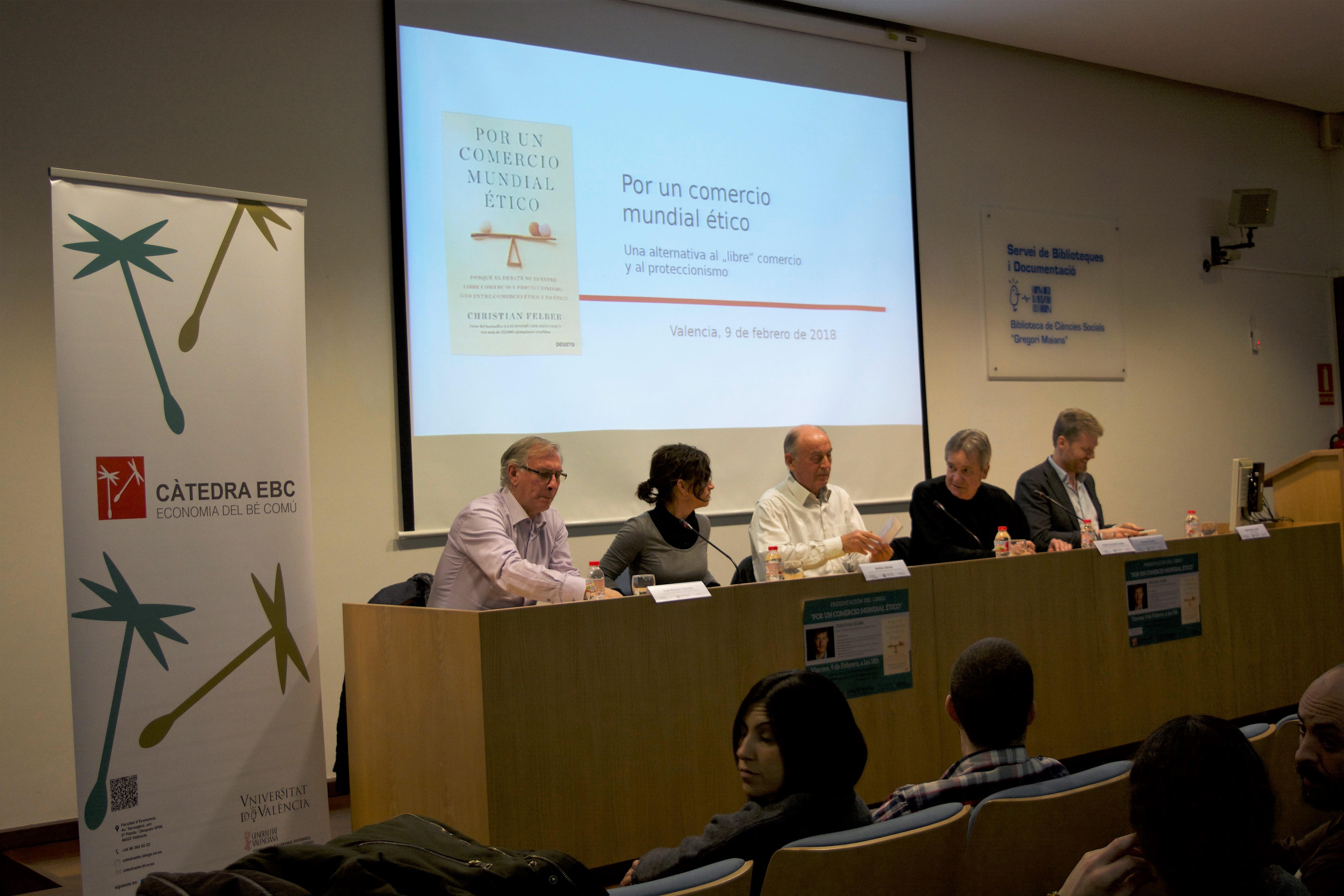 Presentació llibre Christian Felber, València - imatge 0