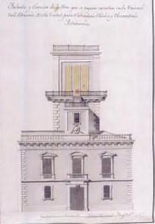 Il·lustració 2. Plànol per a un projecte de laboratori químic a finals del segle XVIII a la Universitat de València.