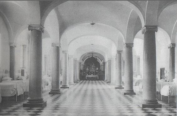 Il·lustració 6. Una de les sales de l'antic hospital de València en la primera meitat del segle XX.