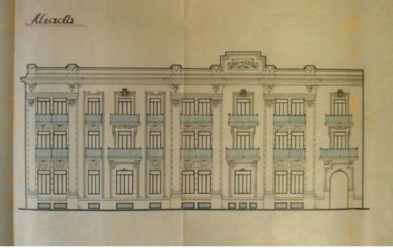 Il·lustració 7. Projecte datat en 1939 per a un edifici de la gota de llet en el carrer de Colom de València.