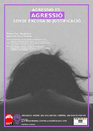 Cartel 25N Jornadas Contra la violencia contra las mujeres