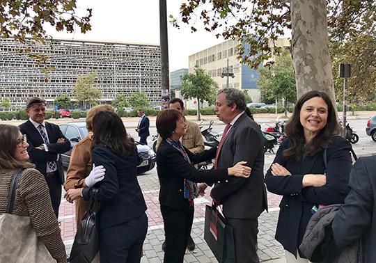 Visita del Consell de Direcció a la Facultat de Dret