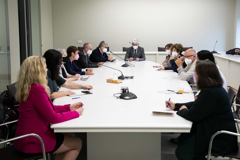 El consell de Direcció de la Universitat visita la Facultat de Magisteri