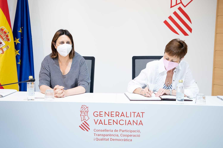 La UV y la GVA firman un acuerdo para la realización de actividades de participación ciudadana mediante la Cátedra PAGODA