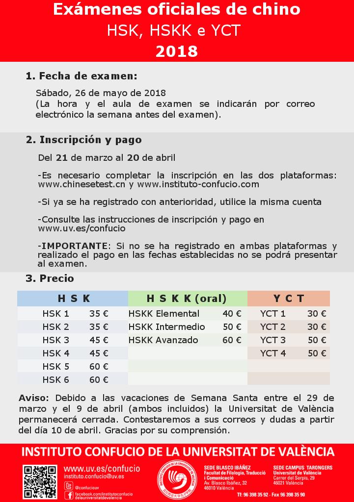 Información exámenes