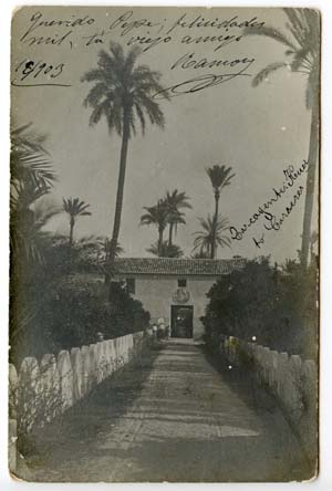 Carcaixent. Entrance to Carreres Grove. c. 1900.