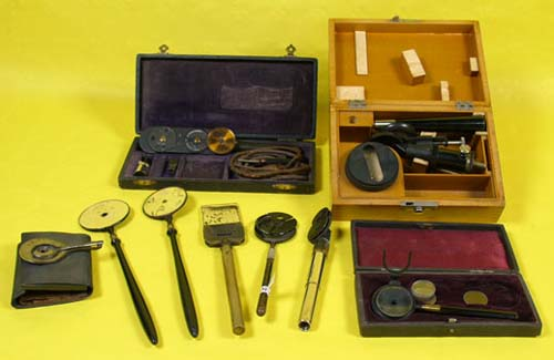Selection of various ophtalmoscopies, at the end of the 19th century – early 20th century