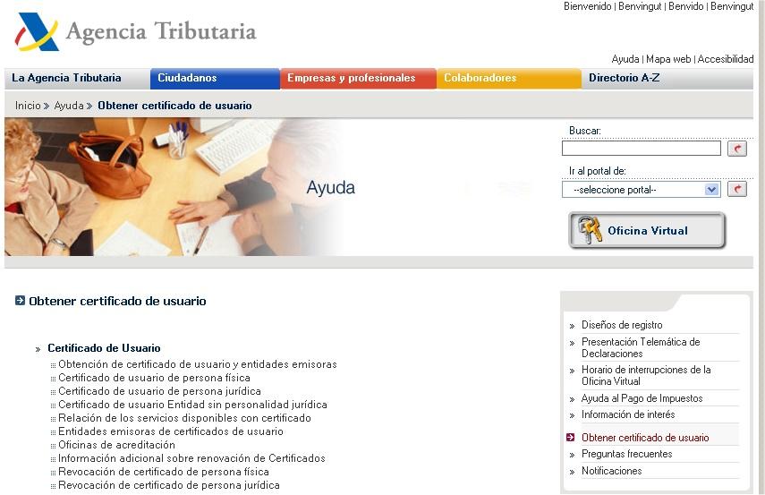 Internet y los programas de ayuda para la declaraci n de for Oficina virtual de la agencia tributaria