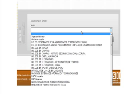 Captura pantalla àmbits d'oficines de registre i unitats de tramitació