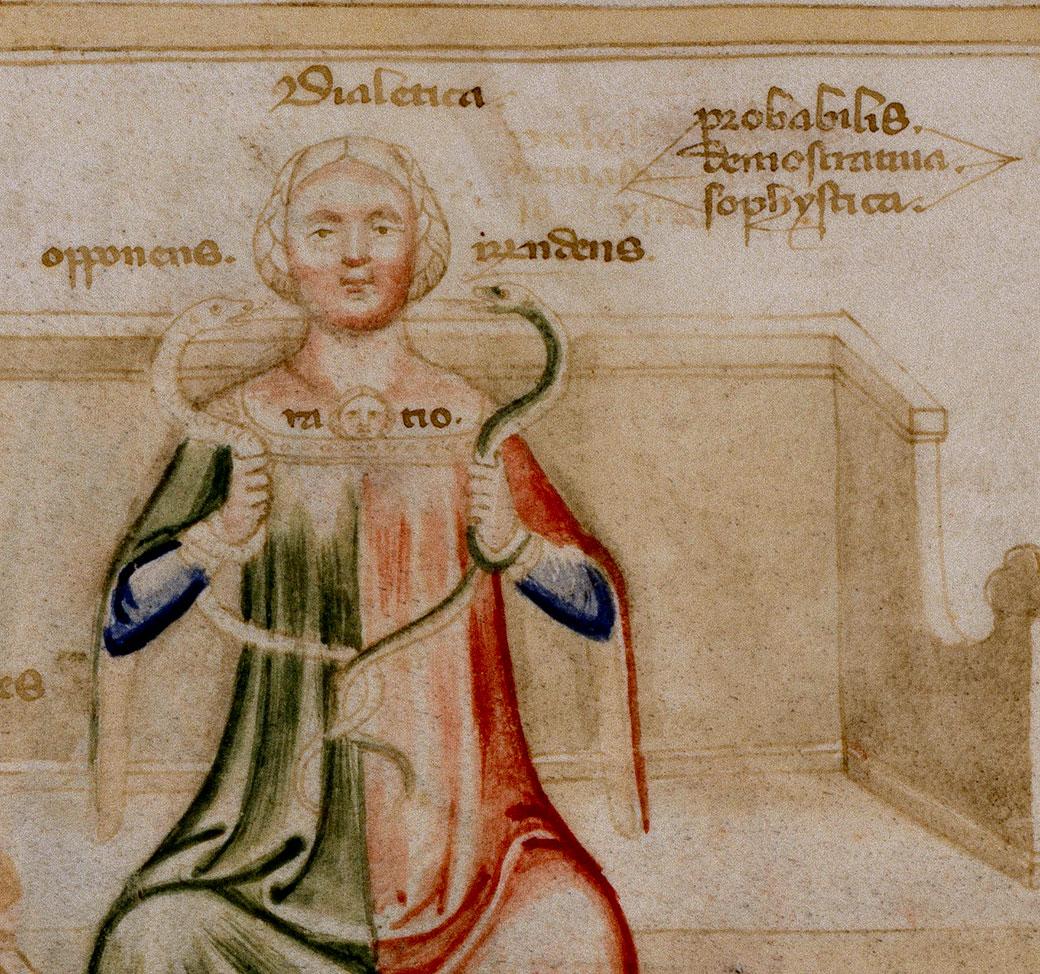 Il·lustració d'un còdex milanés dels Visconti del qual l'autor del Curial va prendre referents iconogràfics i va plagiar textos amb errates.