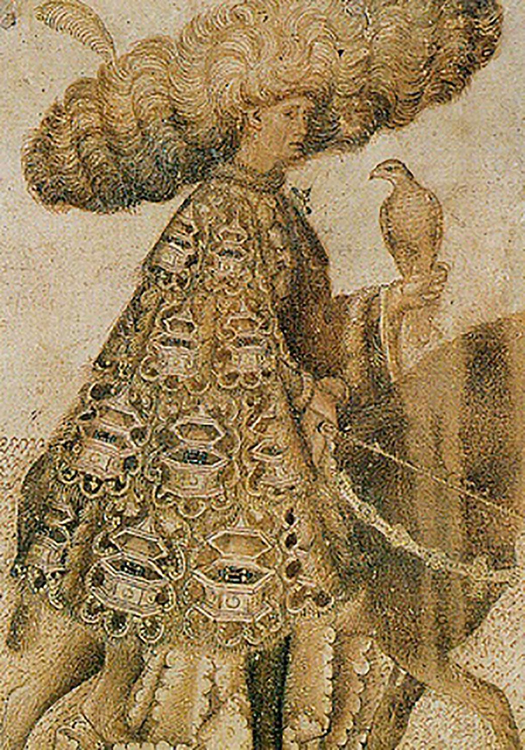 El Curial és una novel·la molt italiana per les seues fonts literàries, geografia, onomàstica, ambientació, llenguatge, etc. (dibuix del Pisanello, dècada del 1440).