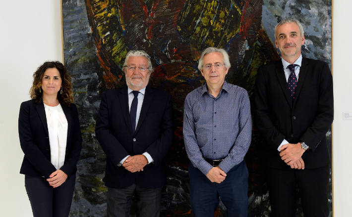 D'esquerra a dreta: Irene Guasque, Rafael Alcón, Antonio Ariño, Cristobal Suria.