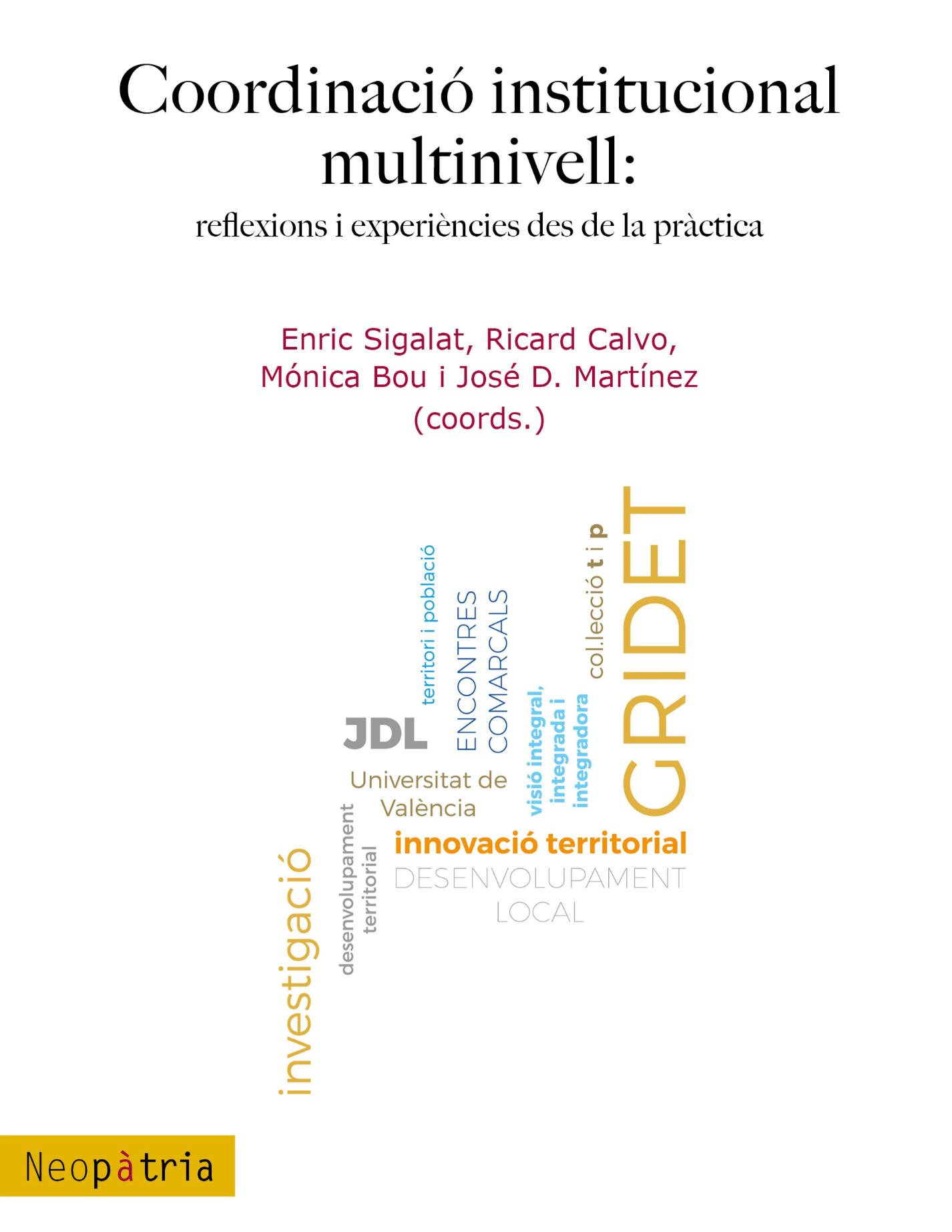 Portada Coordinació institucional multinivell