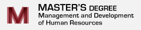 Master's Degree MAnagement and Development of Human Resources
