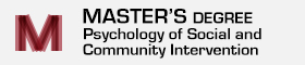Master's Degree in Psychology of Social and Community Intervention