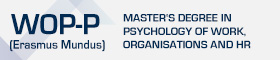 Master's Degree in Psychology Work, Organisations and HR (Erasmus Mundus)