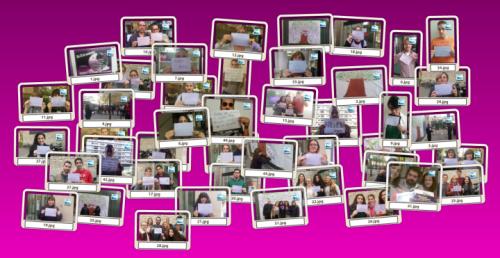 """Colecció de fotos de la lectura del manifest i dels 'selfies' el """"Dia Internacional per a l'Eliminació de la Violència contra les Dones"""""""