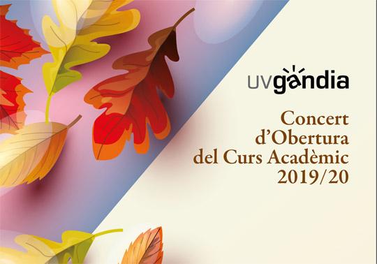 Orquestra Filharmònica de la Universitat de València. Concierto de Apertura del Curso Académico 2019/20. 17/10/2019. Gandia. 19.30h