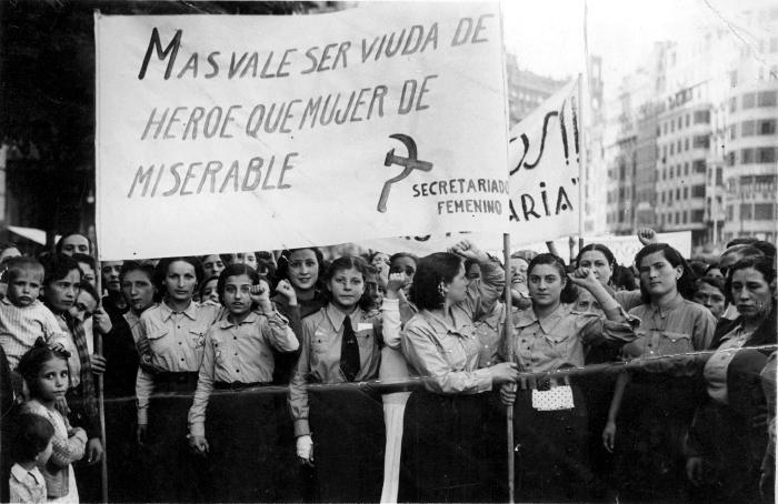 Resultado de imagen de GUERRA CIVIL MANIFESTACIONES COMUNISTAS