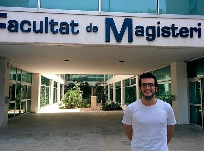 Juan Carlos Bel, en la Facultad de Magisterio de la Universitat de València