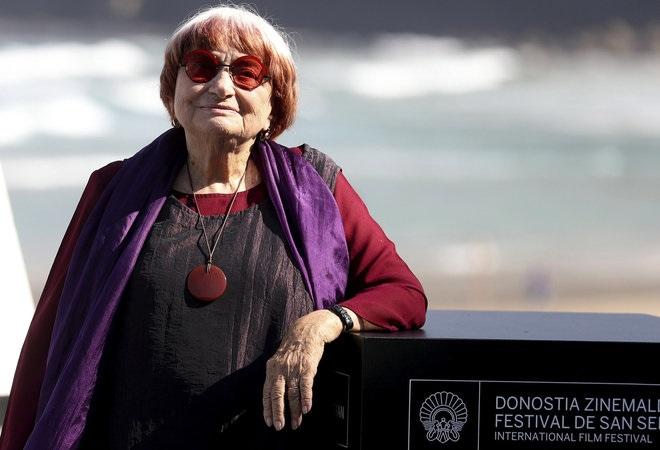 Agnès Varda en el festival de San Sebastián. Fuente: elmundo