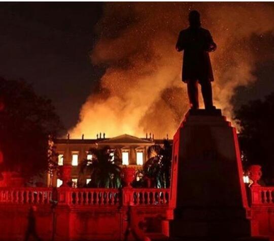 Incendio devastador en el Museo Nacional de Río de Janeiro, 2018 - imatge 0