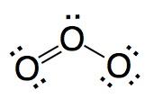 Ozone Structural Formula Lewis Strucutres