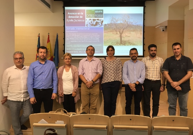 Specialists who have participated in the conference Advances in the detection of <i>Xylella fastidiosa</i>.