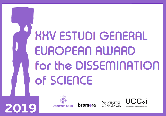Poster of the XXV «Estudi General»European Award for the Dissemination of Science.