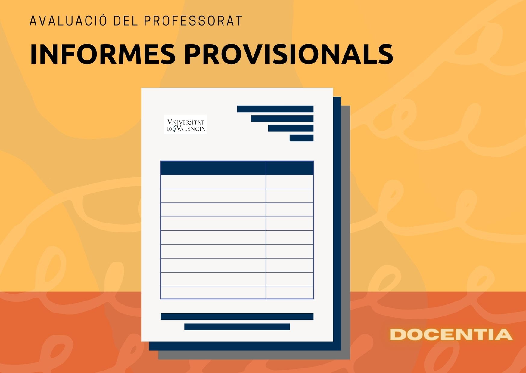 Informe provisional DOCENTIA
