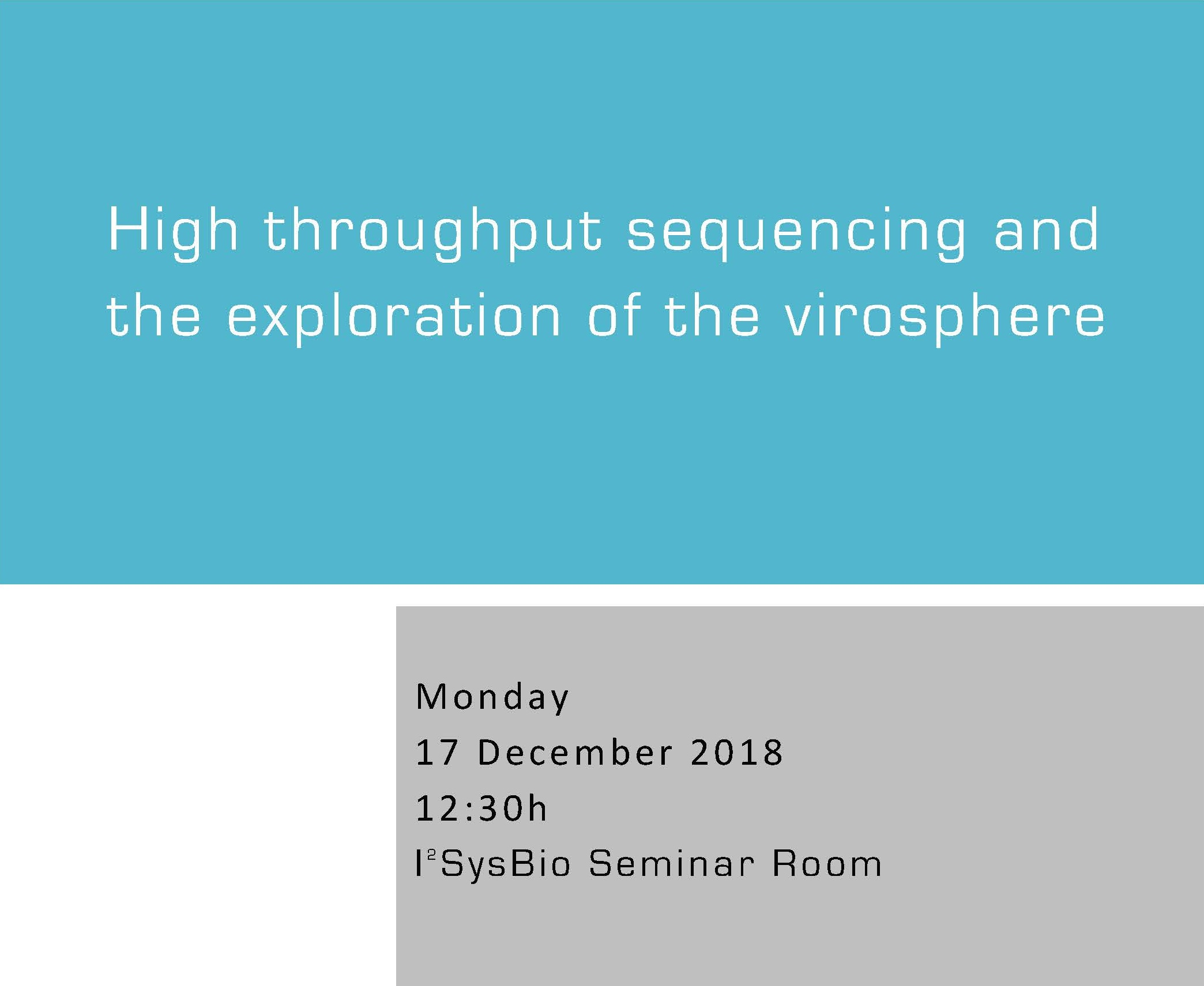 High throughput sequencing and  the exploration of the virosphere