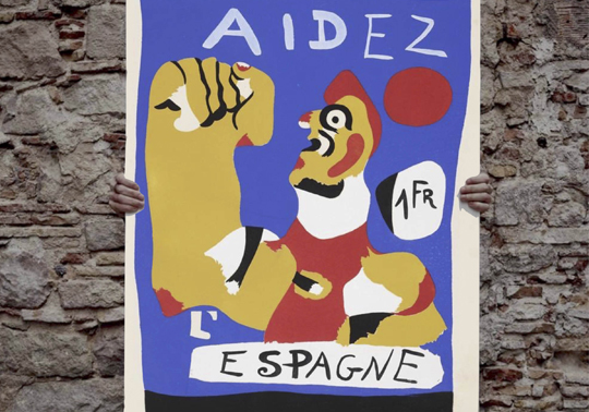 Supportive poster with the Second Spanish Republic.