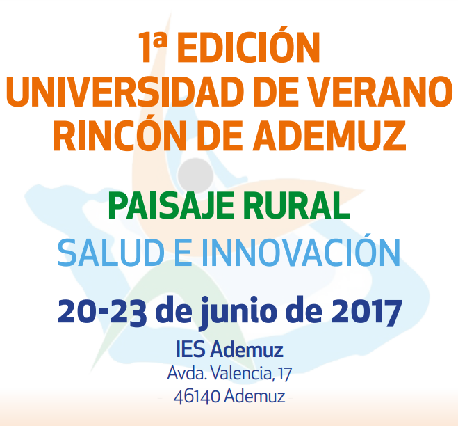 Poster of the Summer University of Rincón de Ademuz