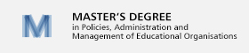 Master's Degree in Policies, Administration and Management of Educational Organisations