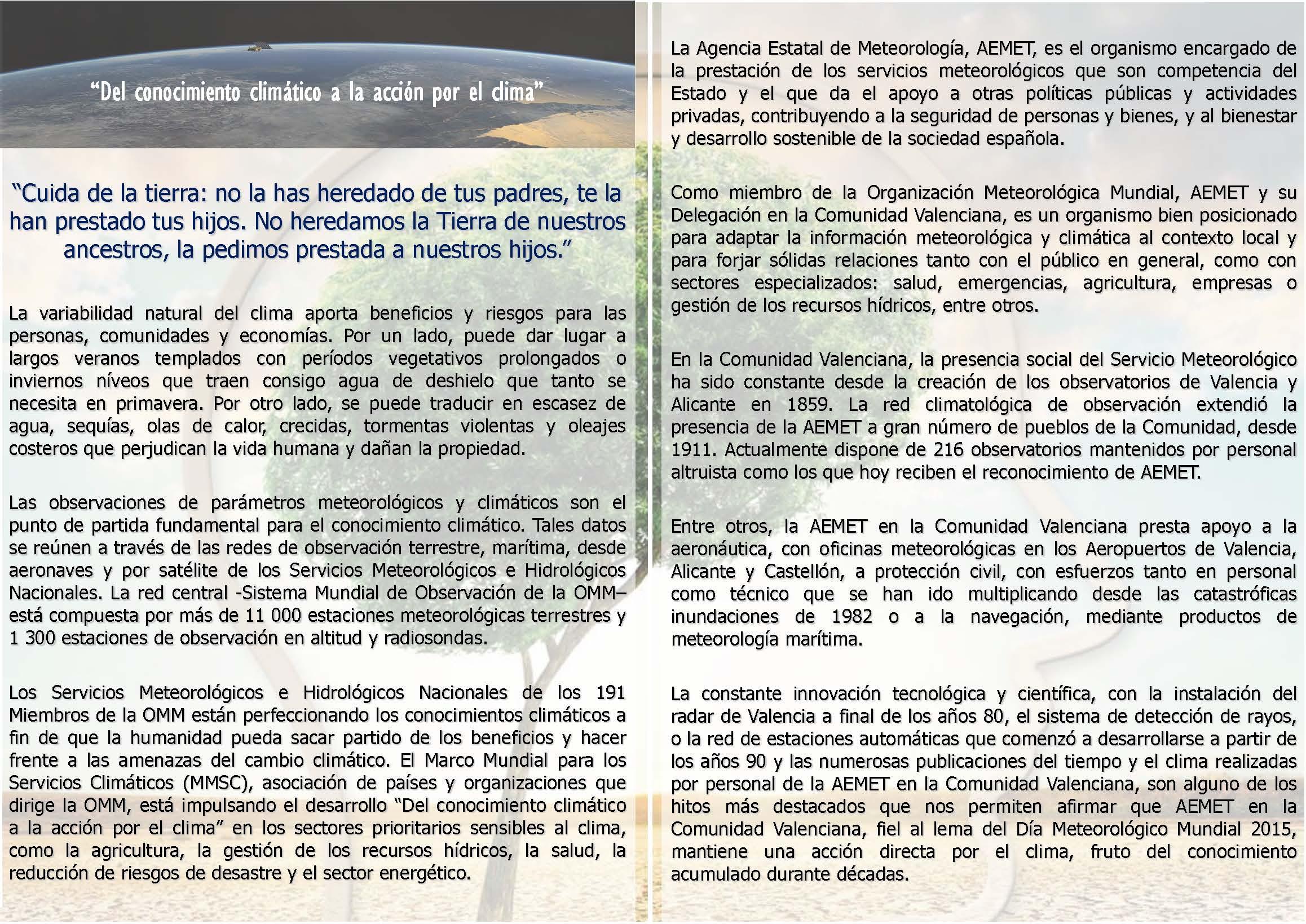 La universitat celebra el dia meteorol gico mundial for Cajamar oficinas valencia