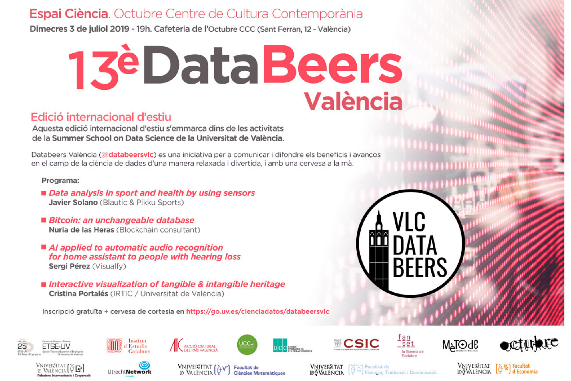 Data Beers València organises its 13th edition in the II Summer School on Data Science of the UV