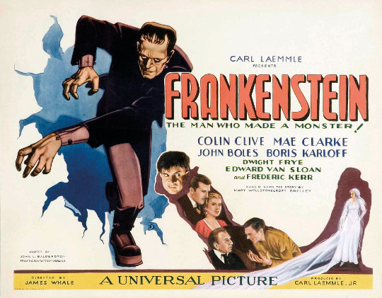 Poster of the film Frankenstein, 1931.