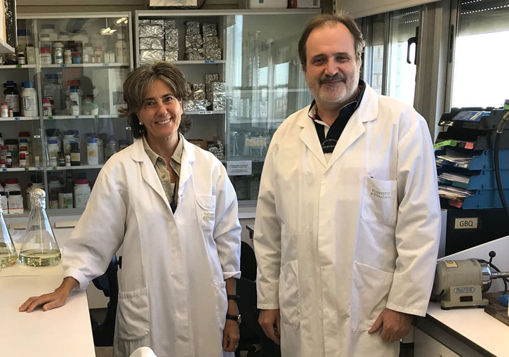 Yolanda Bel, senior scientist of Biotecmed and Baltasar Escriche, professor of the Department of Genetics of the University of Valencia.