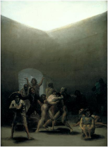 Francisco de Goya, Corral de locos, 1794 (Dallas, Meadows Museum).