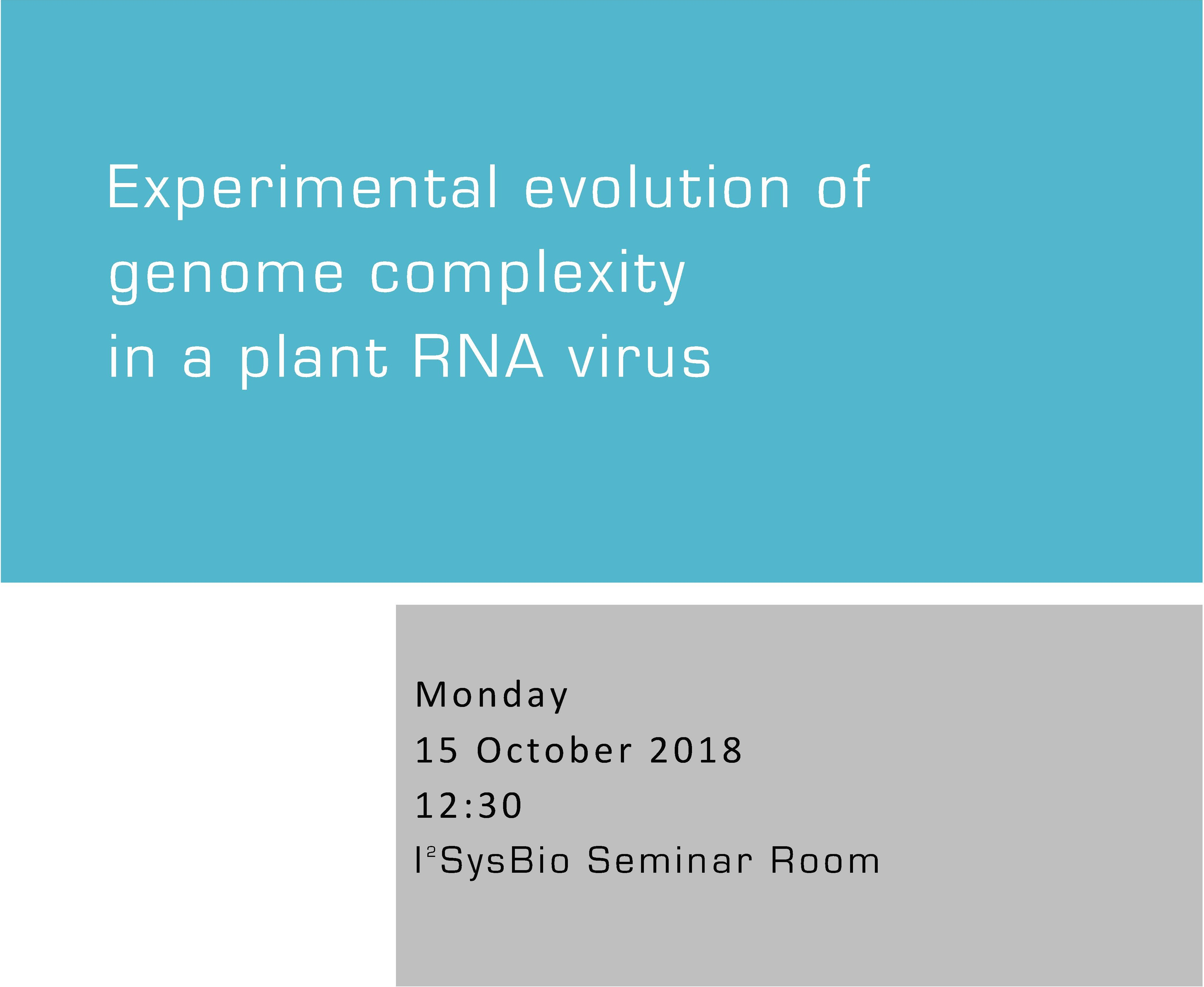 Experimental evolution of genome complexity in a plant RNA virus