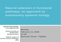 Natural selection in functional pathways: an approach to evolutionary systems biology