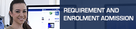 Requirement and enrolment admission