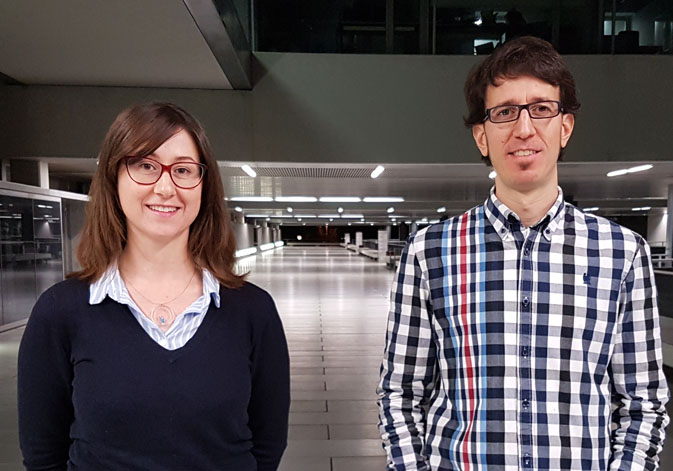 Emilia López Iñesta, researcher of the Faculty of Teacher Training, and Francisco Grimaldo, researcher and teacher of the School of Engineering of the University of Valencia.
