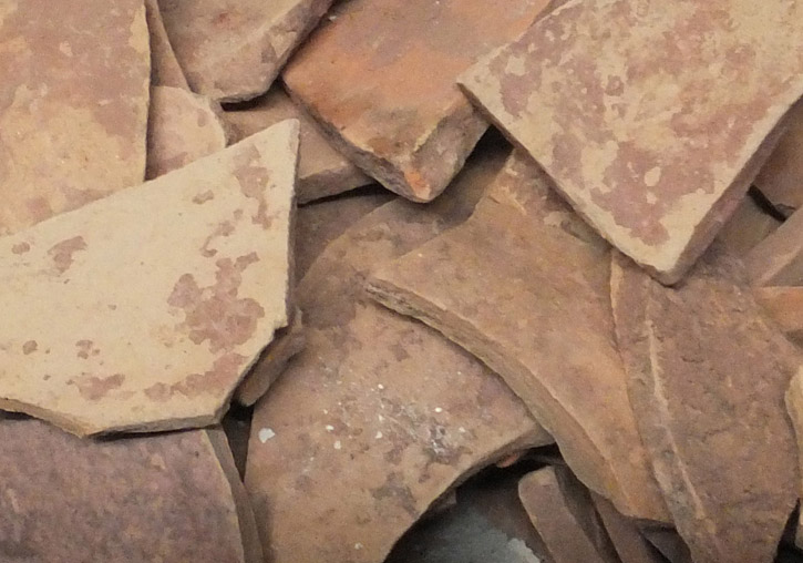 Ceramic fragments of the Sagunt amphorae analysed in the research.