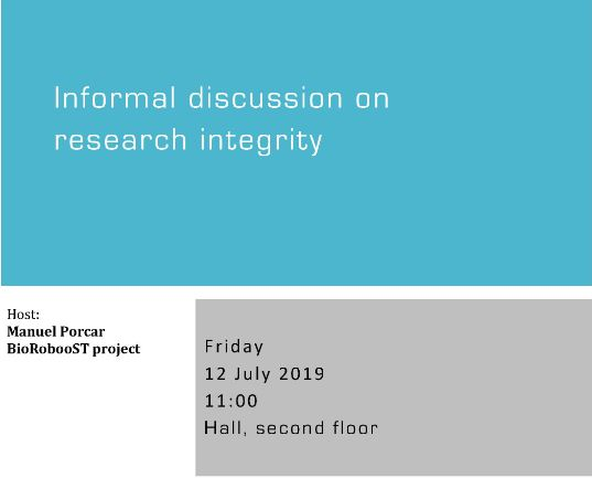 Informal discussion on research integrity