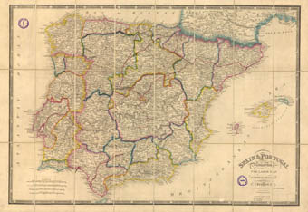 Topographical Map Of Spain.The University Commemorates The 175th Anniversary Of The Creation Of