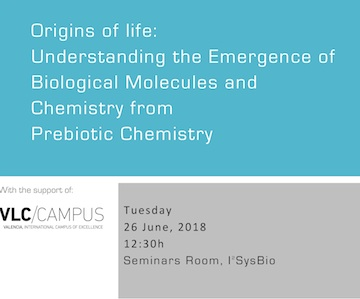 Origins of life: Understanding the Emergence of Biological Molecules and Chemistry from Prebiotic Chemistry