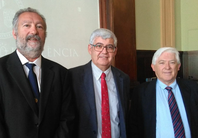 (From left to right). Ernesto López Baena, Justo Herrera and Jorge Tamayo.