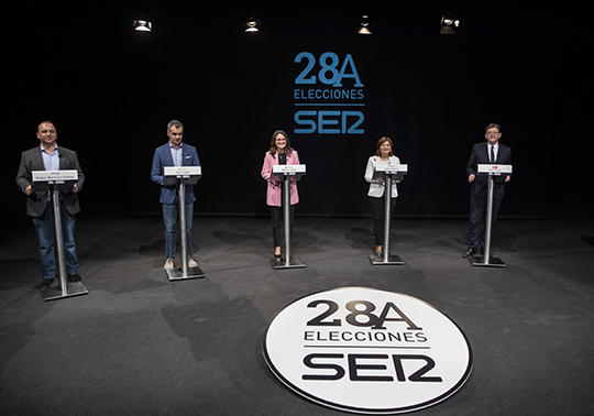 Candidates for the regional elections of the 28th of April